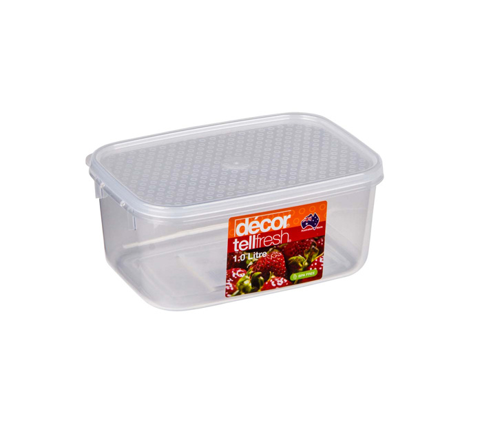 TELLFRESH FOOD CONTAINER 1L CLEAR (1890)