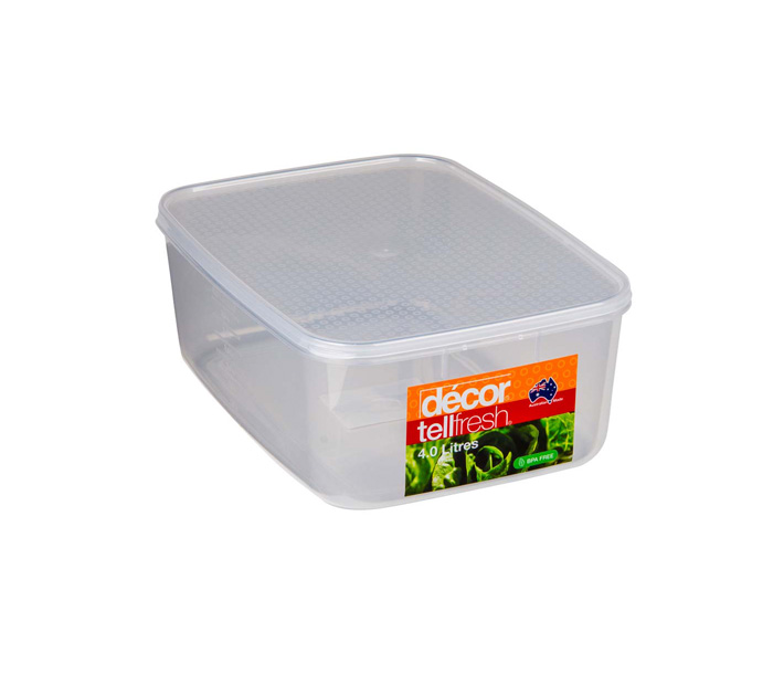 TELLFRESH FOOD CONTAINER 4L CLEAR (1893)