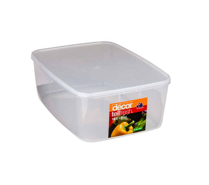 TELLFRESH FOOD CONTAINER 10L CLEAR (1894)