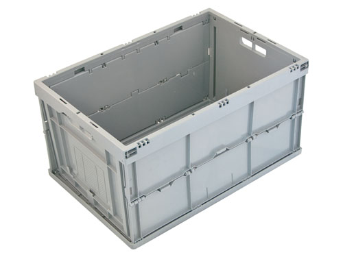 LOGISTICX FOLDING CRATE 57L GREY (1480)