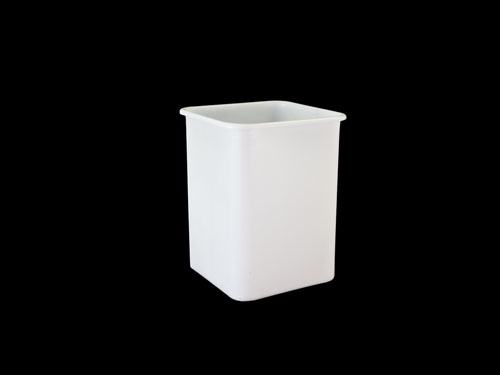 SQUARE BIN 60L NATURAL (2425PL)
