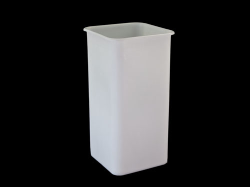 SQUARE BIN 100L NATURAL (2430PL)