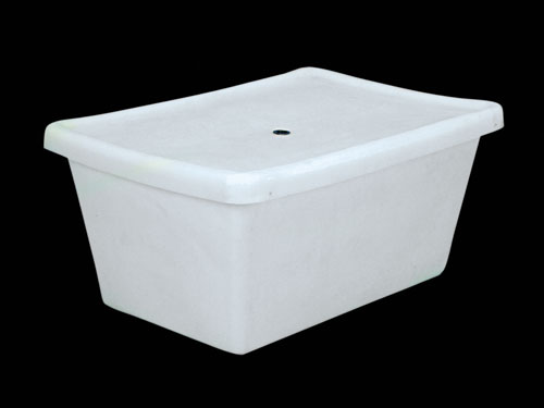 M80 TRANSIT TUB W/LID 189L NATURAL (2540PL)