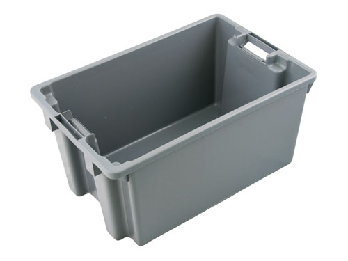 LOGISTICX STACKA NESTA CRATE 42L GREY (1189PP)