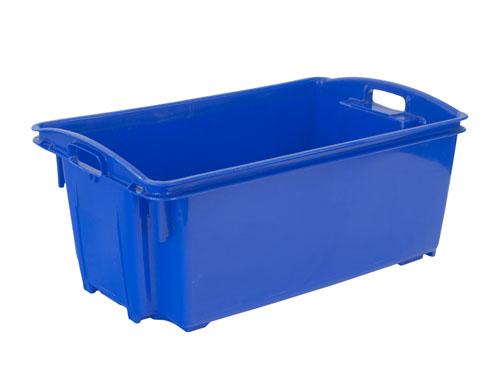AP12 FISH CRATE W/HOLES 55L BLUE (1190PH)