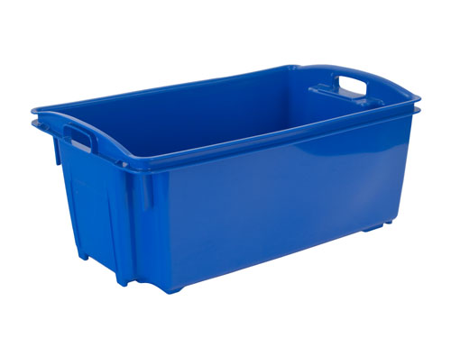 AP12 FISH CRATE NO/HOLES 55L (PP) BLUE (1192PH)