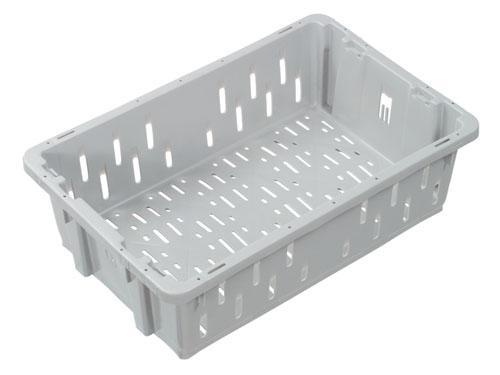 TRANSPORT CRATE VENTED 23L GREY (1329PH)