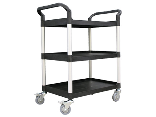 SERVICE TROLLEY SMALL 3 TIER BLACK (2861)