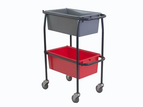2 TIER TROLLEY FOR TOTE BOXES (2863)