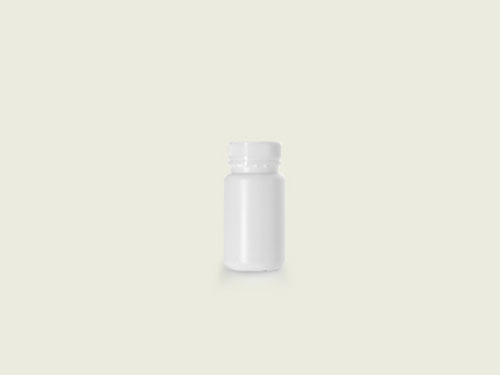 WM TABLET BOTTLE 40MM 125ML WHITE (5701)