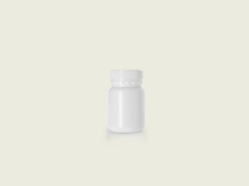 WM TABLET BOTTLE 51MM 185ML WHITE (5702)