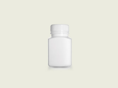 RECT TABLET BOTTLE 36MM 100ML WHT (5720)