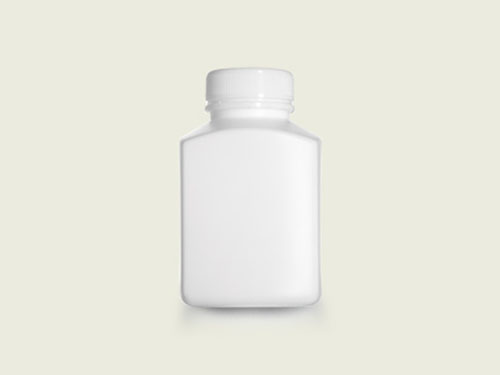 RECT TABLET BOTTLE 40MM 275ML WHT (5722)