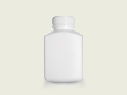 RECT TABLET BOTTLE 40MM 385ML WHT (5723)