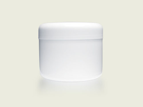 COSMETIC POT 250ML WHITE (5745)