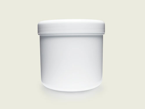 CHEMIST CREAM POT (BASE ONLY) 500G WHT (5757)