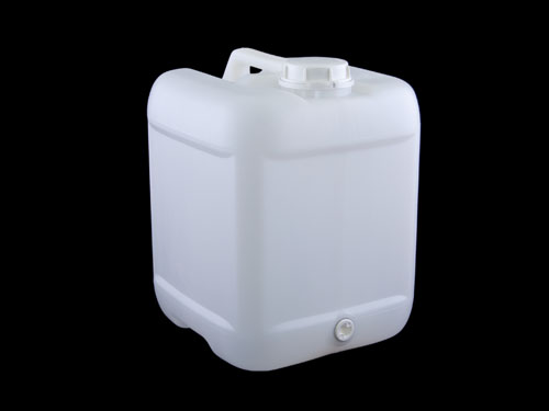 Square Jerrycan 70mm DG w/ Cap & Bung 20L - Natural