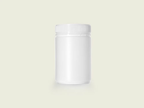POWDER POT 83MM 600ML WHITE (5734)