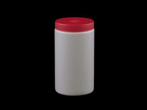 RND BM JAR W/LID 1L WHT/RE (6241)