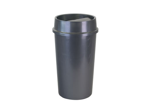 FLIP TOP RUBBISH BIN W/LID 60L GRY (3170)