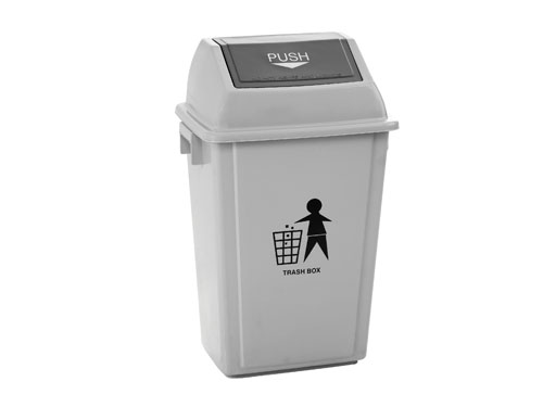 LOGX SWING TOP BIN W/LID 55L GREY (3175)