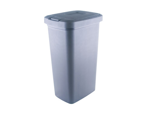 TOUCH TOP TIDY BIN W/LID BLK (3260)